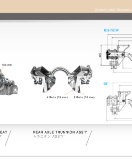 REAR AXLE TRUNNION ASS'Y-UD